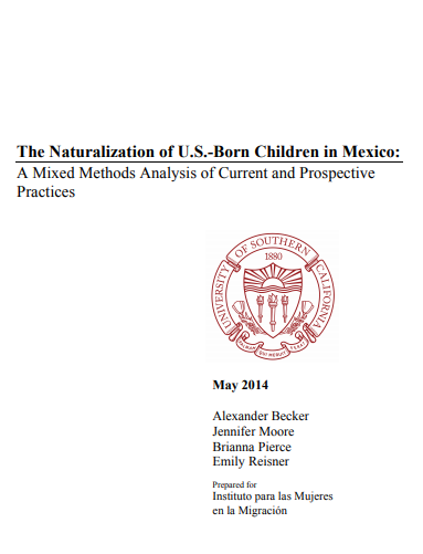 Portada, The naturalization of U.S.-Born Children in Mexico